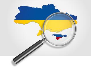 Landkarte *** Ukraine | Krim