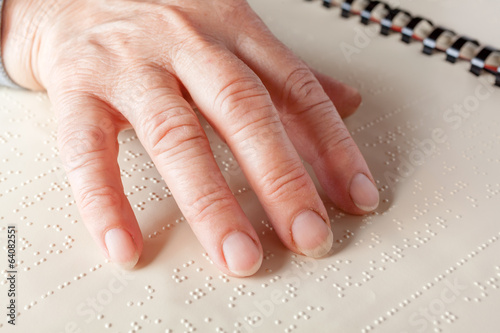 canvas print picture Braille language