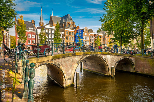 Spoed canvasdoek 2cm dik Amsterdam Amsterdam cityscape