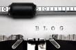 """""""Blog"""" written on an old typewriter"""
