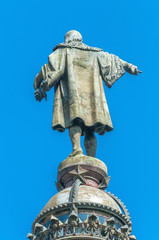 Christopher Columbus monument in Barcelona.