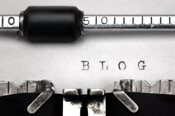 """Blog"" written on an old typewriter"