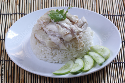 steam chicken with rice