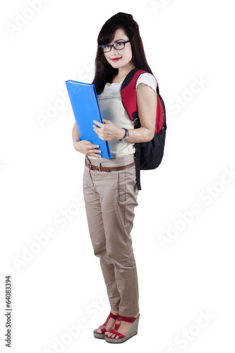 Asian college student isolated