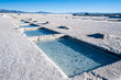 Salinas Grandes on Argentina Andes is a salt desert in the Jujuy - 64084506