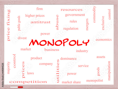 Monopoly Word Cloud Concept on a Whiteboard