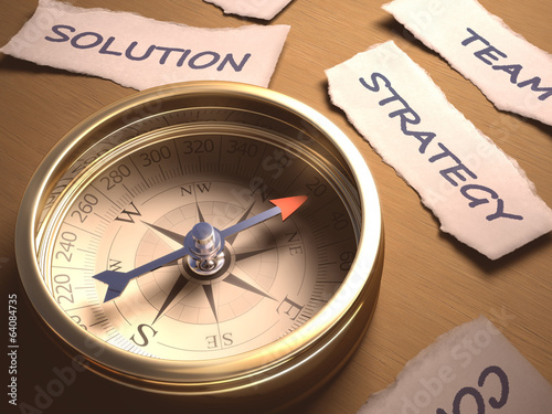 Compass Strategy. Clipping path included.