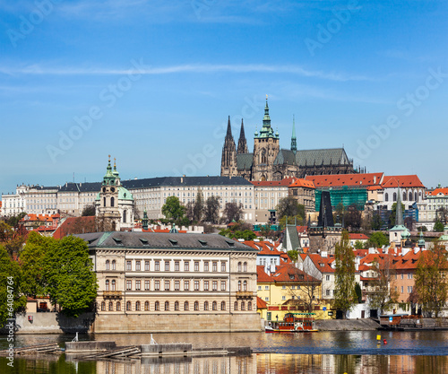 View of  Vltava river and Gradchany (Prague Castle)