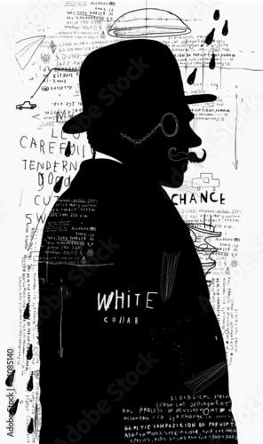 Мужчина в шляпе и пенсне © moypapaboris