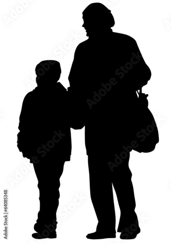 Father and little boy