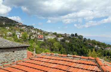 View of Zagora village, Pelion, Greece