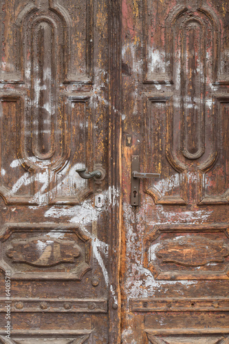 Detail of an old door. Background.