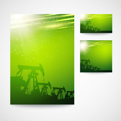 Pump Jack Oil Crane for your business card design.