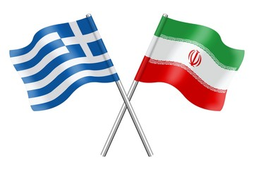 Flags: Greece and Iran