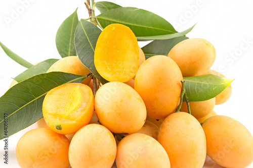 Tropical Thai Fruit. Maprang, Marian plum, Gandaria, Plum mango.