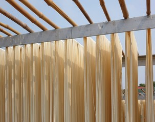 Sun Dried Long Noodles in Taiwan