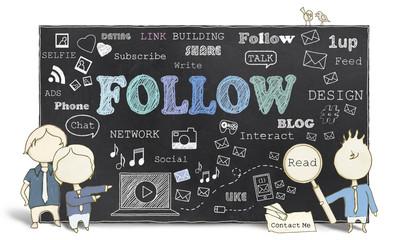 Follow with Social Media