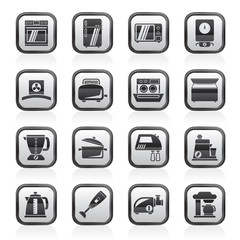 kitchen appliances  and equipment icons - vector icon set