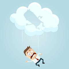 business mann wolke cloud-computing