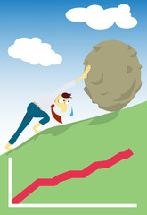 manager like Sisyphus pushing a boulder uphill