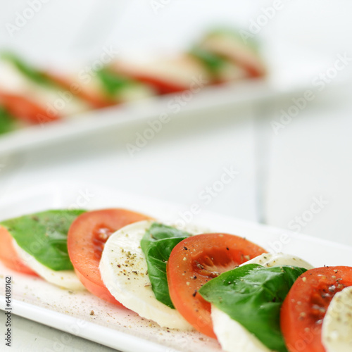 Classic caprese with mozzarella