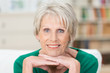 Leinwanddruck Bild moderne seniorin zu hause