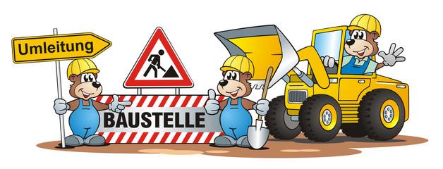Construction Scene Bears