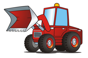 Excavator Red