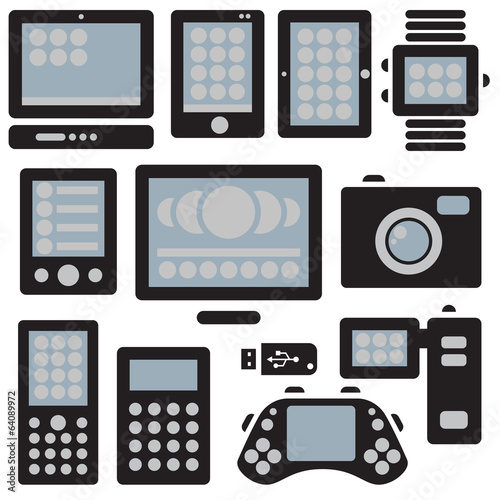 Digital Device Icons Set