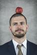 businessman with an apple