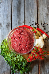 Minced meat with vegetables