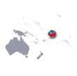 Pazifikkarte mit Samoa