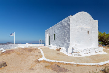 Profitis Ilias chapel, Milos island, Cyclades, Greece