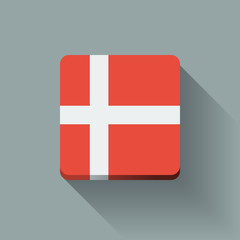 Button with flag of Denmark