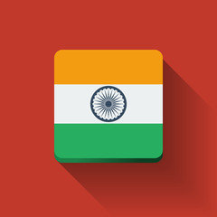 Button with flag of India