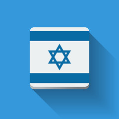Button with flag of Israel