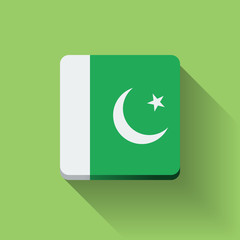 Button with flag of Pakistan