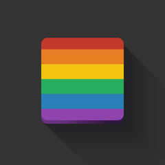 Button with rainbow flag