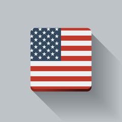 Button with flag of the USA