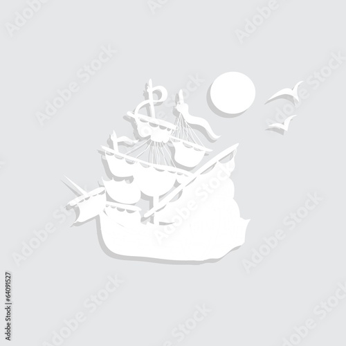 paper pirate ship decal