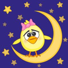 Chicken on the moon