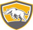 Rhinoceros Charging Side Shield Retro