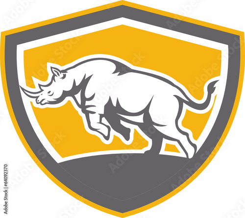 Rhinoceros Charging Side Shield Retro