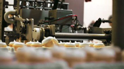 Food factory equipment at work