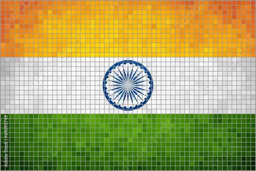Abstract Mosaic Flag of India