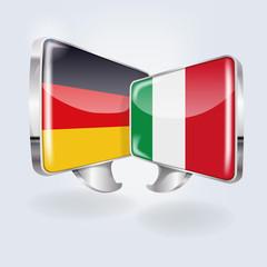 Sprechblasen in deutsch und italienisch