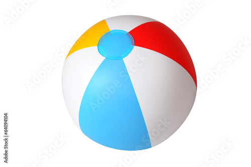 Leinwandbild Motiv Isolated beach ball