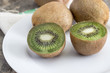 Close up view of fresh kiwis fruits