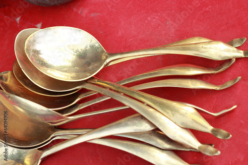 ladle  vintage copper sold in the market.