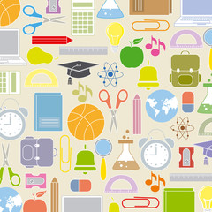 Background school icons